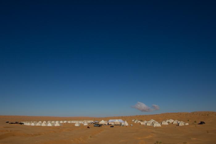 piccolo villaggio di tende berbere a Tembaine in cui è possibile dormire e chiedere ristoro