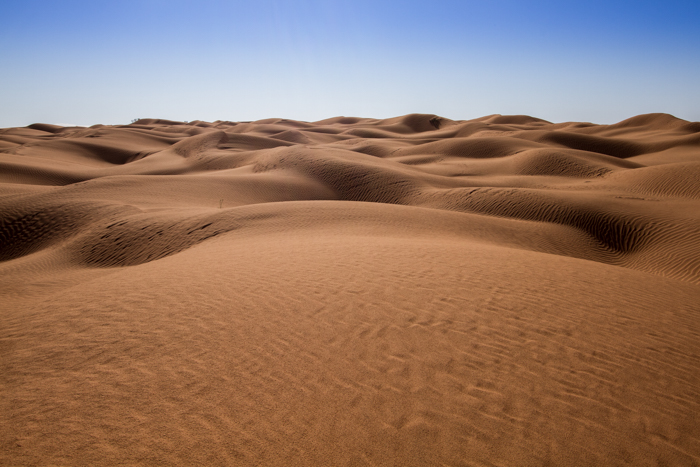 panorama del Sahara tunisino