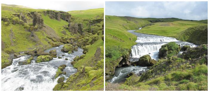 il fiume Skógar, che forma la cascata Skógafoss