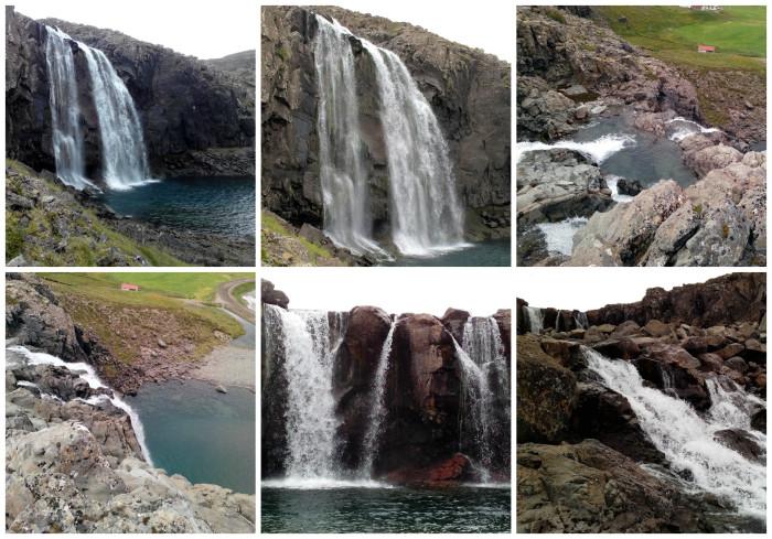 cascate nei fiordi dell'ovest