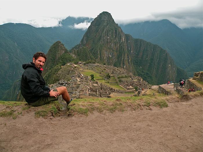 Arrivo a Macchu Picchu con foto di rito